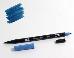 Маркер-кисть Tombow ABT Dual Brush Pen-526, синий истинный