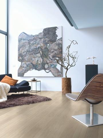 Ligth grey Varnished Oak planks | Ламинат QUICK-STEP UE1304