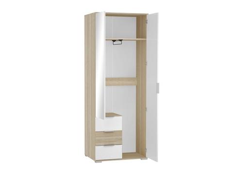 Шкаф двухстворчатый Терра ШК-822 платяной Браво Мебель дуб сонома, белый глянец