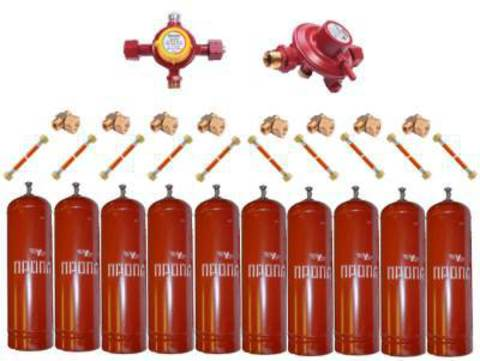 Газобаллонная система GOK (стандарт) для подключения 10 металлических баллонов
