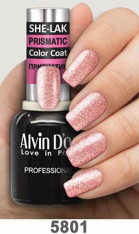 Alvin D`or Лак для ногтей SHE-LAK PRISMATIC  тон 5801 -8мл