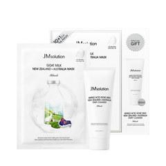 JMsolution Набор для лица с козьим молоком JMsolution Goat milk New Zealand Australia Mask Amino Acid Goat Milk New zealand Australia Start Cleanser 11 шт*30 мл +100 мл