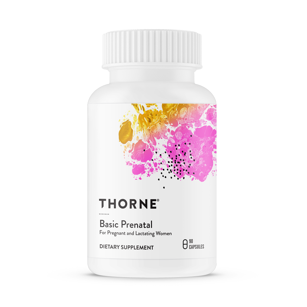 Комплекс витаминов и минералов для беременных и кормящих мам, Basic Prenatal, Thorne Research (90 капсул)