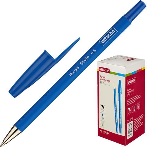 Ручка шариковая Attache Style синяя (толщина линии 0.5 мм)