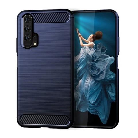 Темно-синий чехол для Huawei Honor 20 Pro (Honor 20S и Huawei Nova 5T), серии Carbon (карбон стиль) от Caseport