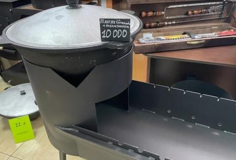 """Комплект """"Мангал с печью под казан Granada Universal + казан 10л"""""""