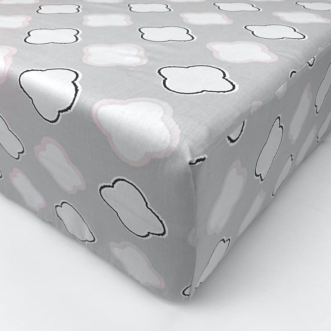 САТИН КОТИКИ - Простыня на резинке 160х200
