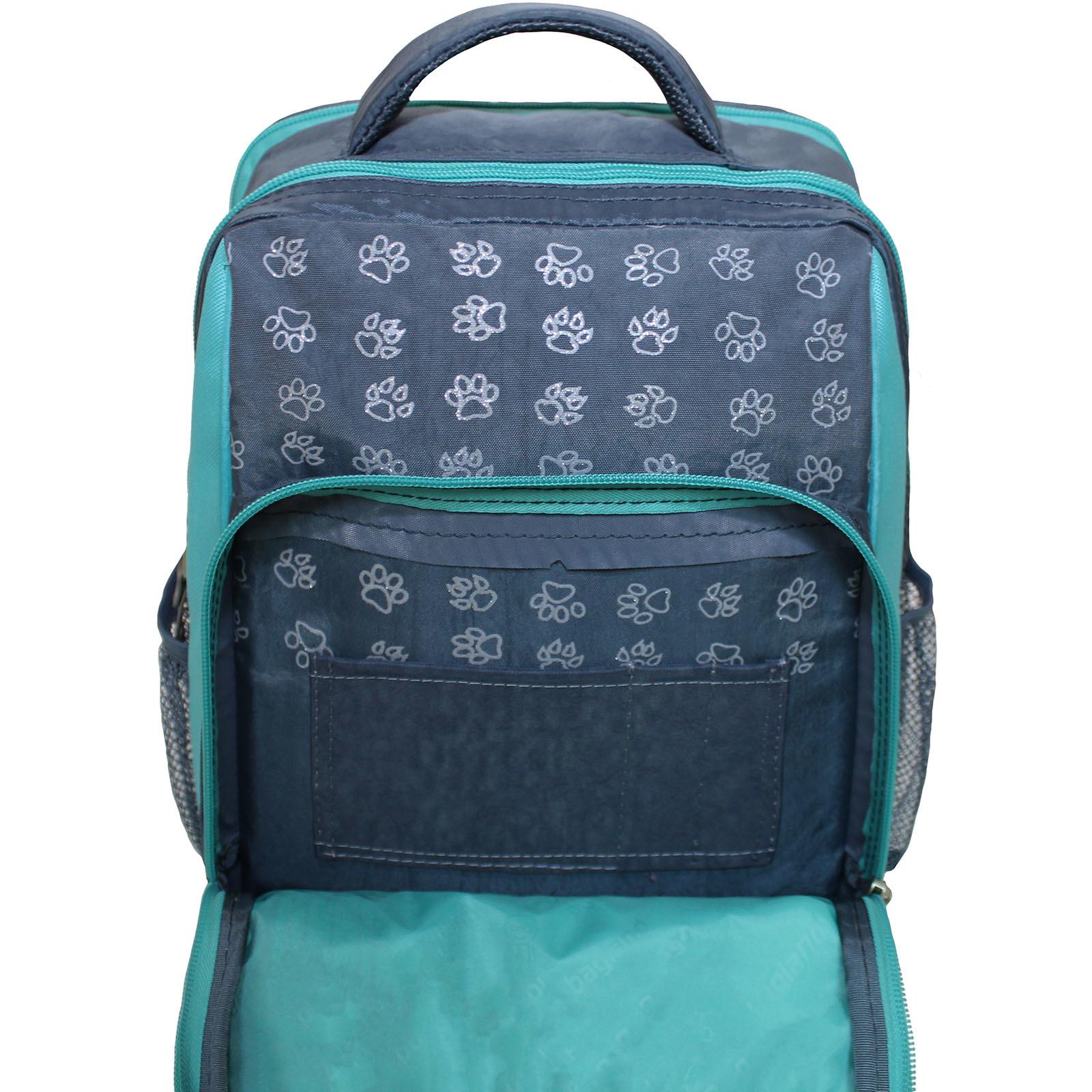 Рюкзак школьный Bagland Школьник 8 л. серый 143д (0012870)
