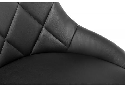 Барный стул Curt черный 45*45*84 Черный кожзам /Хромированный металл каркас
