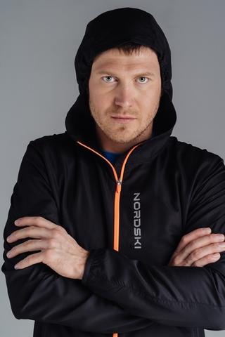 Ветровка для бега Nordski Jr.Run Black/Orange детская
