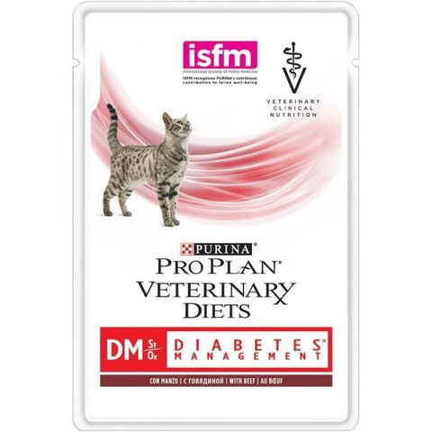 Корм для кошек Pro Plan Veterinary Diets Feline DM Diabetes Management Beef pouch 85 гр