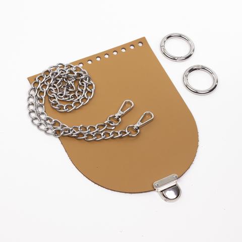 """Комплект для сумочки Орео """"Мёд"""". Цепочка и замок """"Маленький литой"""""""