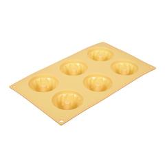 Форма для выпечки из силикона «Кексы с отверстием» 29х17х4 см 6 ячеек