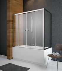 Шторка на борт ванны Radaway Vesta DWD+S 204070-01 фото