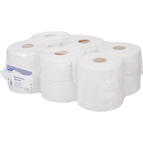 Бумага туалетная в рулонах Luscan Professional 2-слойная 12 рулонов по 170 метров