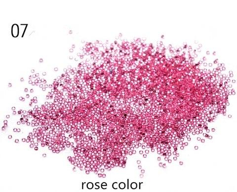 Хрустальная крошка/пиксики/№7 ярко розовый цвет купить за 400руб