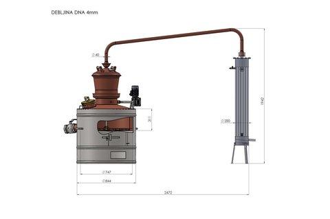 Дистиллятор медный Des Профессионал Диаманд 160 литров