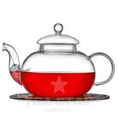 """Чайник заварочный """"Смородина"""" 1000 мл, стеклянный"""