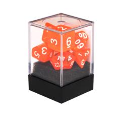 Набор разногранных оранжевых прозрачных кубиков