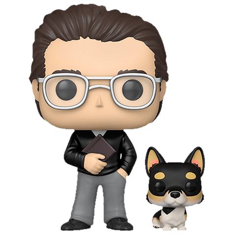 Фигурка Funko POP! Vinyl: Icons: Stephen King w/Corgi (Exc) 35026