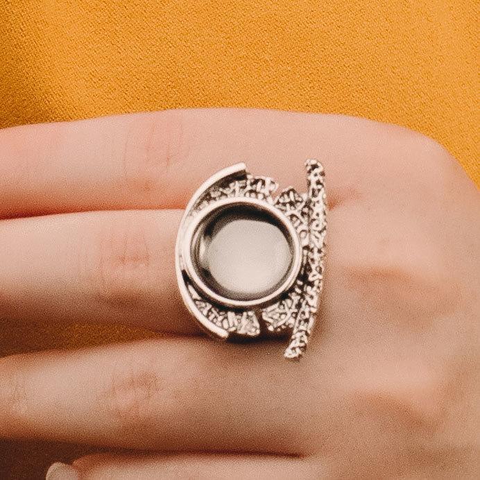 Кольцо Vi антик серый