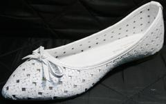 Балетки остроносые Vasari Gloria 19Y38860-37 White.