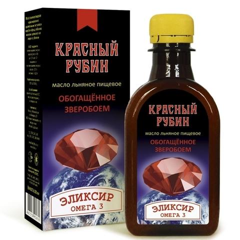 Масло льняное Красный Рубин КЗ 200мл