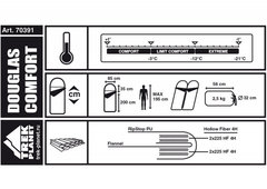 Спальный мешок Trek Planet Douglas Comfort 70391