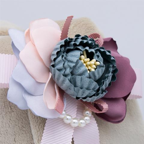 Зайка Ми Большая в бархатном платье с цветком на ушке