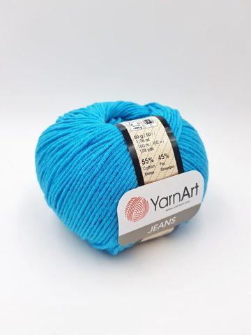 Пряжа YarnArt JEANS - (55-темно-бирюзовый)