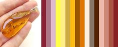 с каким цветом одежды сочетается порачный жёлтый, коньячный янтарь