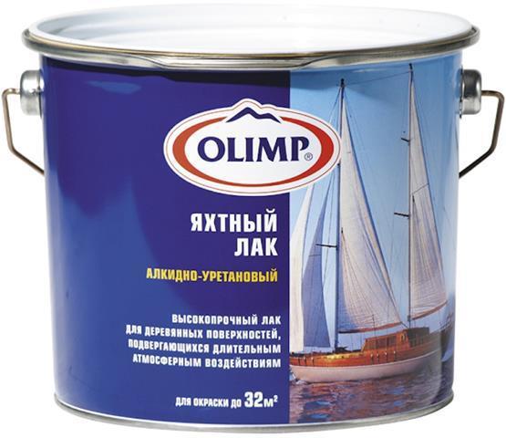 Лак яхтный Олимп п/матовый (0,9л)