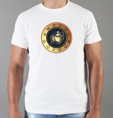 Футболка с принтом Знаки Зодиака, Стрелец (Гороскоп, horoscope) белая 0075