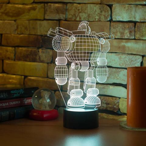 3D лампа Робот