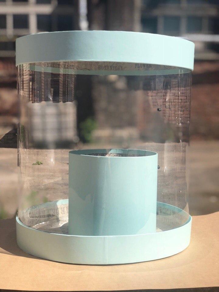Коробка аквариум 32см Цвет :Светло изумрудный. Розница 700  рублей .