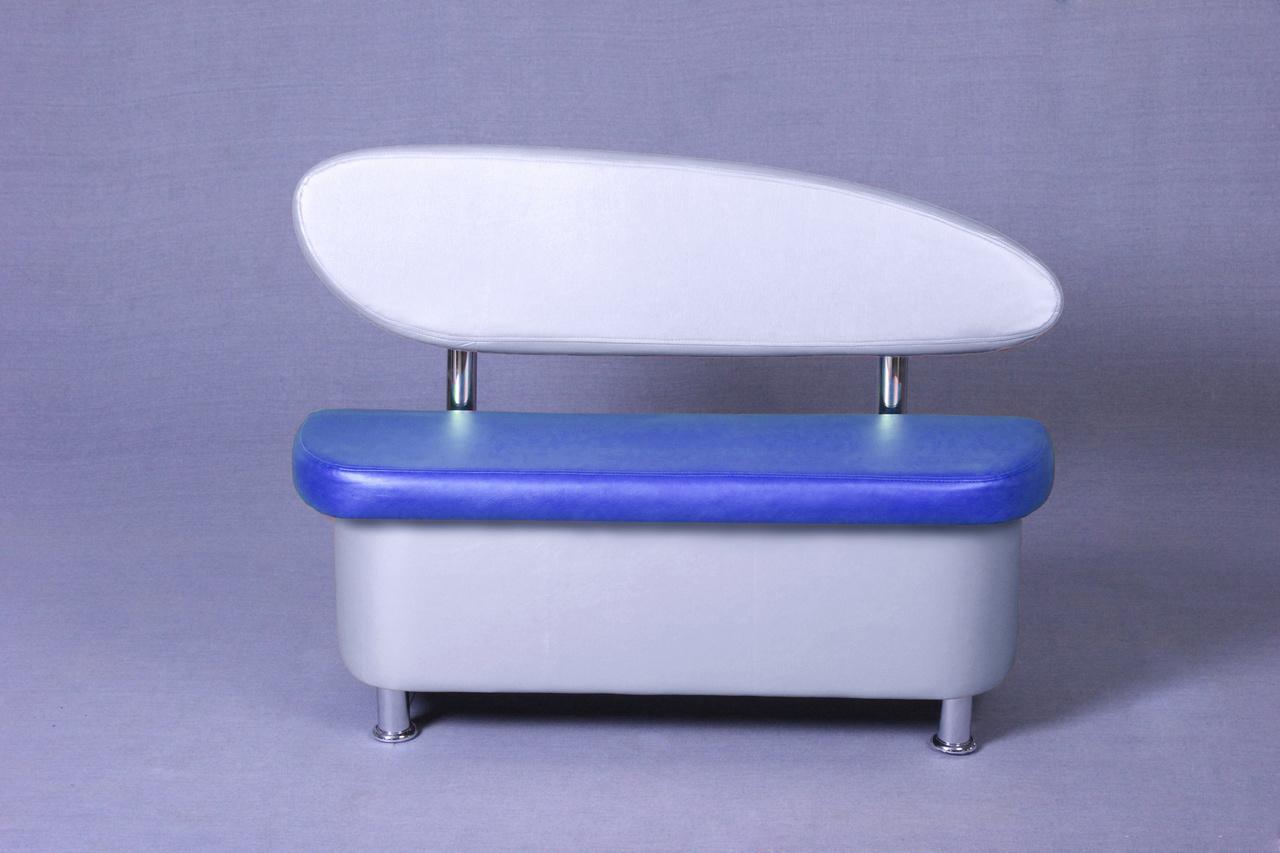 Диванчик +120 техно синий-металлик