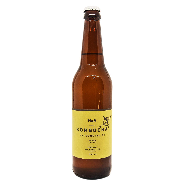 Напиток Комбуча  ИМБИРНЫЙ Royal nut 0,5 стекло