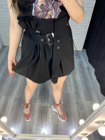 черная юбка с завышенной талией nadya