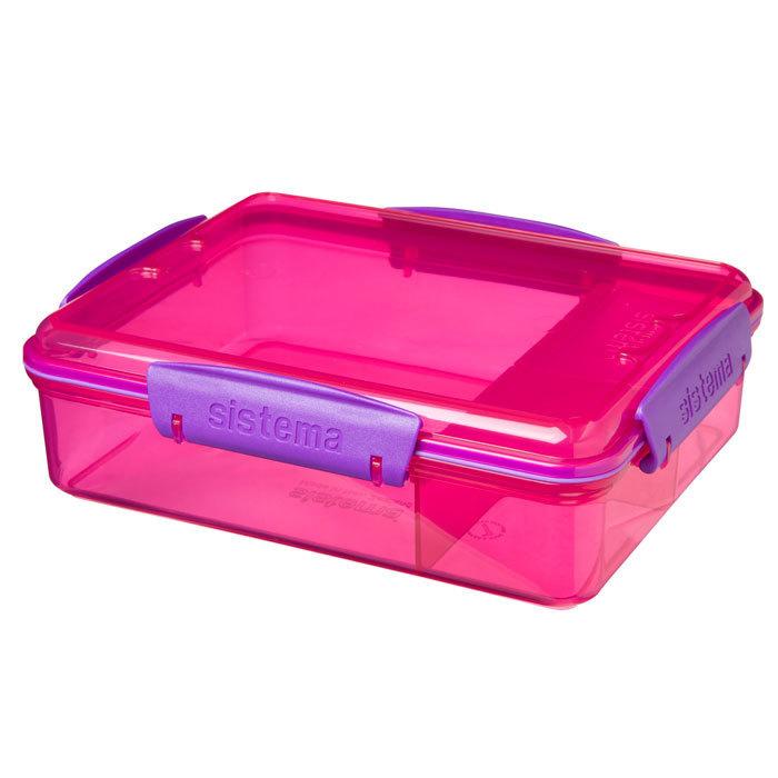 "Набор Sistema ""Lunch"": 2 ланч-бокса и бутылка, цвет Розовый"