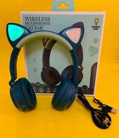 Беспроводные Bluetooth наушники Cat Ear ZW-028 со светящимися ушками