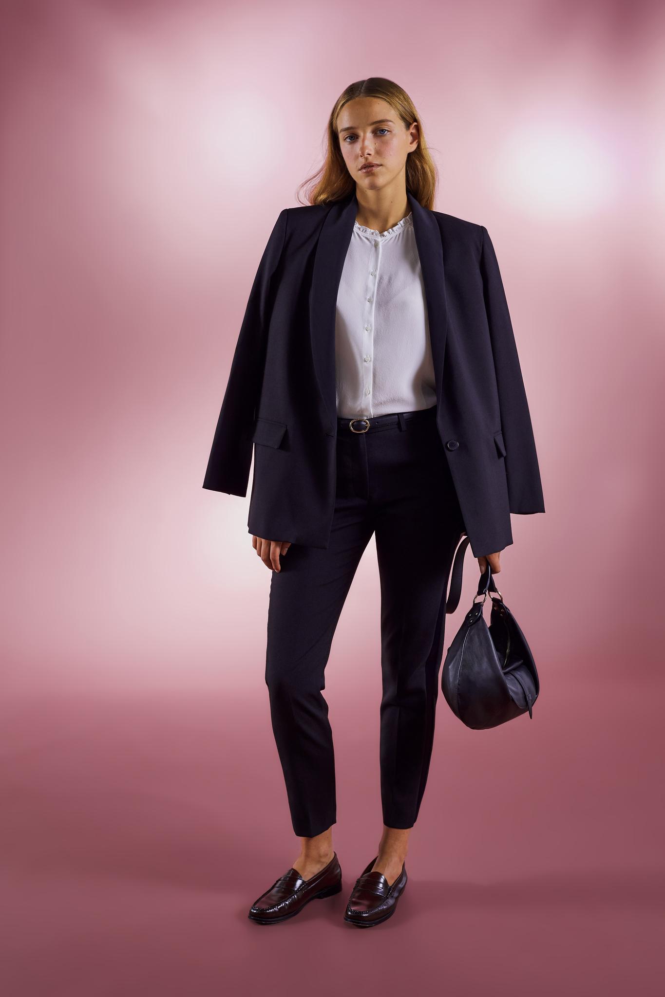JULES - Прямые брюки с атласной вставкой