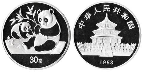Жетон Китайская панда. Китай. 1983 год. PROOF