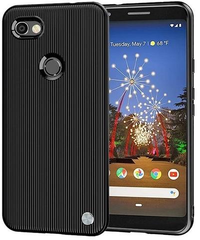 Чехол на Google Pixel 3a XL цвет Black (черный), серия Bevel от Caseport