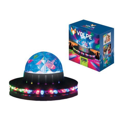 Светодиодный светильник-проектор ULI-Q305 3,5W/RGB BLACK. Напольный. Серия DISCO, многоцветный. Горизонтальная и вертикальная проекции. ТМ VOLPE. Кабель с вилкой, 220В. Цвет корпуса - черный .