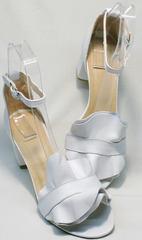 Купить босоножки с закрытой пяткой и открытым носком Ari Andano K-0100 White