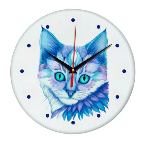 Настенные часы Котенок голубые глазки