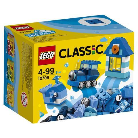 LEGO Classic: Синий набор для творчества 10706 — Blue Creativity Box — Лего Классик