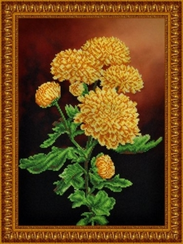 Ветка желтых хризантем