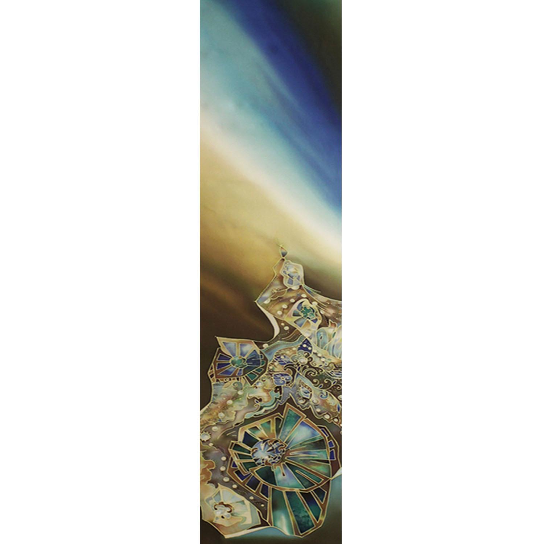 Шелковый шарф батик Драгоценности