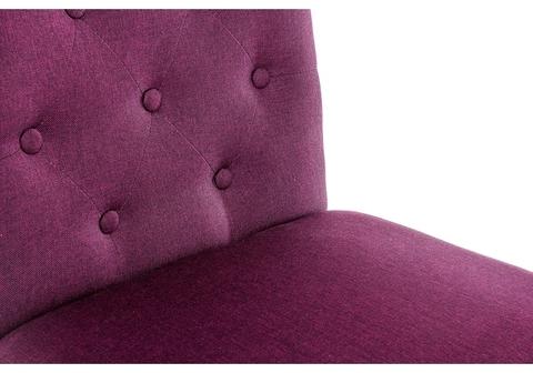 Стул деревянный кухонный, обеденный, для гостиной Amelia dark walnut / fabric purple 45*45*95 Dark walnut /Фиолетовый